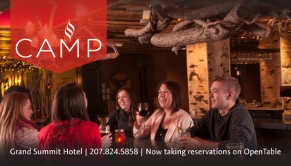 Camp Restaurant at the SUnday River Grand Summit Hotel 207-824-5858