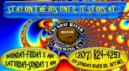 Sunday River Brewing Company, Bethel, Maine 207-824-4253